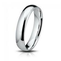 Solid 925 Sterling Silver Plain 4mm Thin Bridal... - $9.49 - $11.29