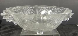 Elegant Glass Era New Martinsville Large Serving 4 Toed  Bowl * Prelude ... - $47.49