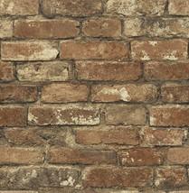 Oxford Rust Photo Realistic Faux Brick Wallpaper MAN20097 - $33.38