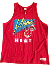 Mitchell & Ness Mens Red Miami Heat Tank Top Sleeveless Muscle T-Shirt NBA NWT