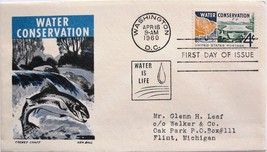 April 18, 1960 First Day of Issue, Ken Boll Cover, Water Conservation #23 - $2.28