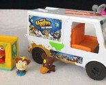 The Ugglys Pet Shop Dirty Dog Wash Van Truck w/ Sickly Sounds & (3) Pets & Cage