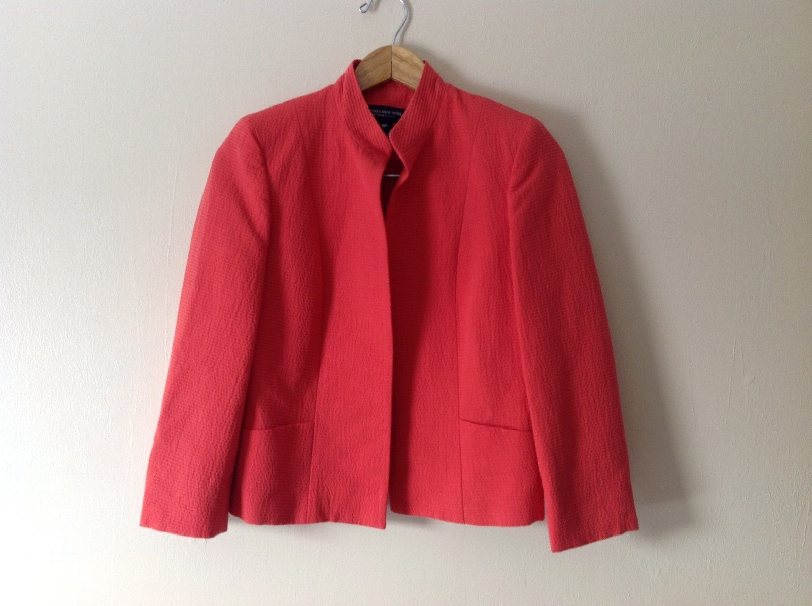 Womens Jones New York open blazer coral