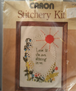 Love is Shining Crewel Embroidery Sampler Kit - $9.95