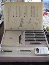 Vintage Buttonholer  Org Sears Kenmore Box 9 Templates Guide Plate Slide... - $31.95