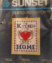 Sunset Counted Cross Stitch Kit Heart of the Home - $7.95