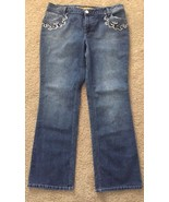 WOMENS D'MODE CLASSIX EMBELISHED JEANS Flared Leg Size 14 - $18.66