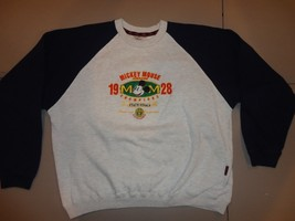 Disney Mickey Mouse Embroidered State Finals 1928 Raglan Crew Sweatshirt... - $31.82