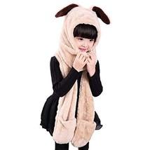 f5050c372c9b QCHOMEE Kids Teens Girls Boys Animal Winter Hat 3 in 1 Warm Plush Fluffy.