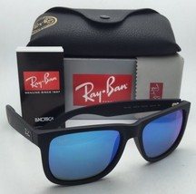 Ray-Ban Sunglasses JUSTIN RB 4165 622/55 54-16 Black Rubber Frames w/Blue Mirror