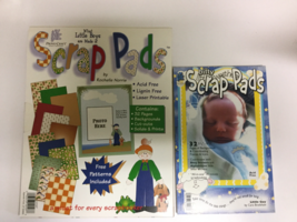 Provo Craft Two Scrap Paper Pads What Little Boys are Made of bitty Litt... - $20.00