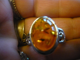 HAUNTED MALE ARABIAN DJINN SIZE 7 AMBER RING - $95.00