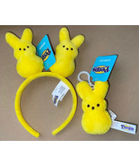 NEW Yellow Peep Bunny Plush Headband & Key Backpack Clip Easter Basket Gift - $18.99