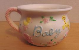 Vintage Napco Porcelain Nursery PlanterPottyCup-Bird-Zebra-Rattler-Eleph... - $10.00