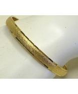 Vintage Monet Gold Tone Textured Bangle Bracele... - $15.99