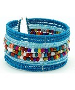 BUY ONE GET ONE FREE Seed Bead coil cuff summer... - $10.69