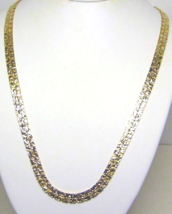 Vintage Textured Gold Tone Necklace  - $13.99