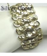 Vintage Coro Wide Gold Tone Rope Pattern Bracelet - $15.99