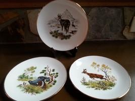 Wildlife Plate Kuba Porcelain (3) Bavaria Germa... - $30.00