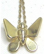 Vintage Trifari Gold Tone Butterfly Necklace - $11.99