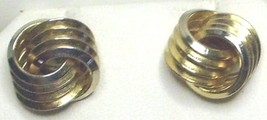 Vintage Gold Tone Love Knot Post Earrings - $2.99