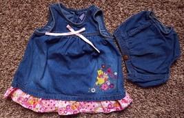 Girl's Size 18 M 12-18 Months 2P Denim Disney Winne The Pooh Dress & Wra... - $18.00