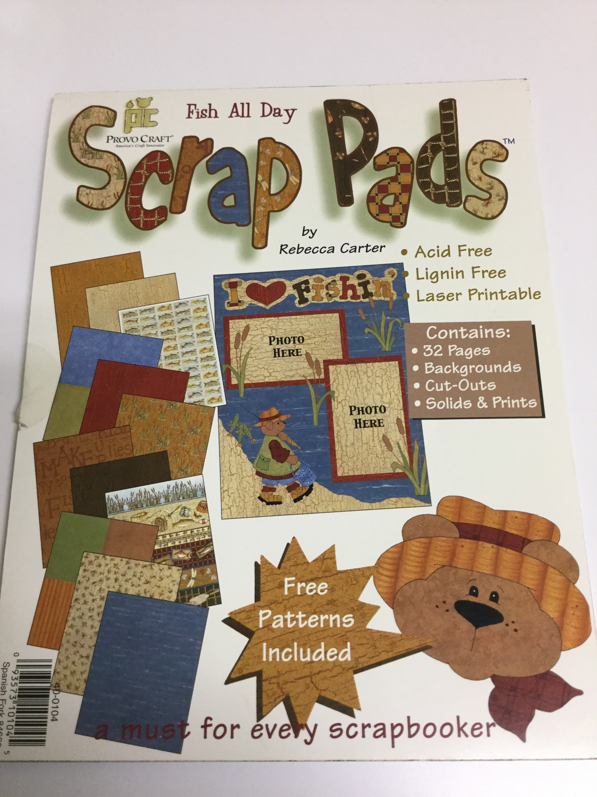 Provo Craft Two New Scrap Paper Pads Fish All Day bitty All Stars