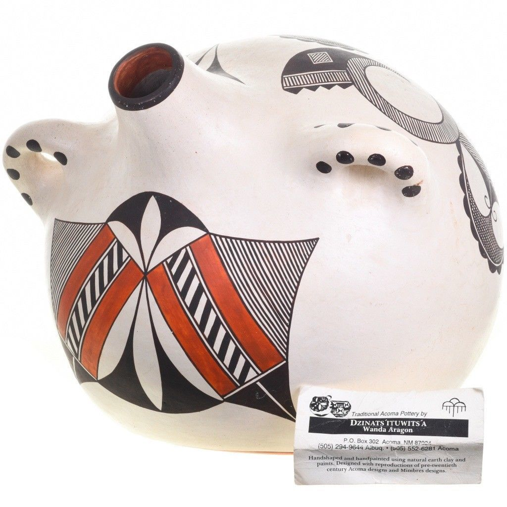Vintage Acoma Old Mimbres Designs Canteen and 50 similar items