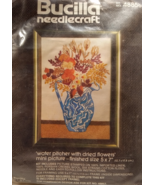 Bucilla Crewel Embroidery Kit 48858 Pitcher with Dried Flowers Kit - $8.99