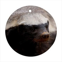 Honey Badger Round Porcelain Ornament - Holiday Seasons - $7.71