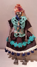 Cantinera Red Muertos Skeleton Woman Doll - $10.50