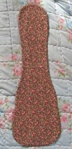Ukulele Blanket For Soprano Uke/Lightly Padded/Brown Calico/Handcrafted - $10.00