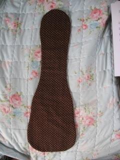 Ukulele Blanket For Soprano Uke/Lightly Padded/Brown Calico/Handcrafted