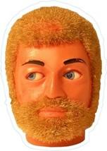 Action Man head shaped vinyl sticker  retro 1970s toys GI Joe - $3.06