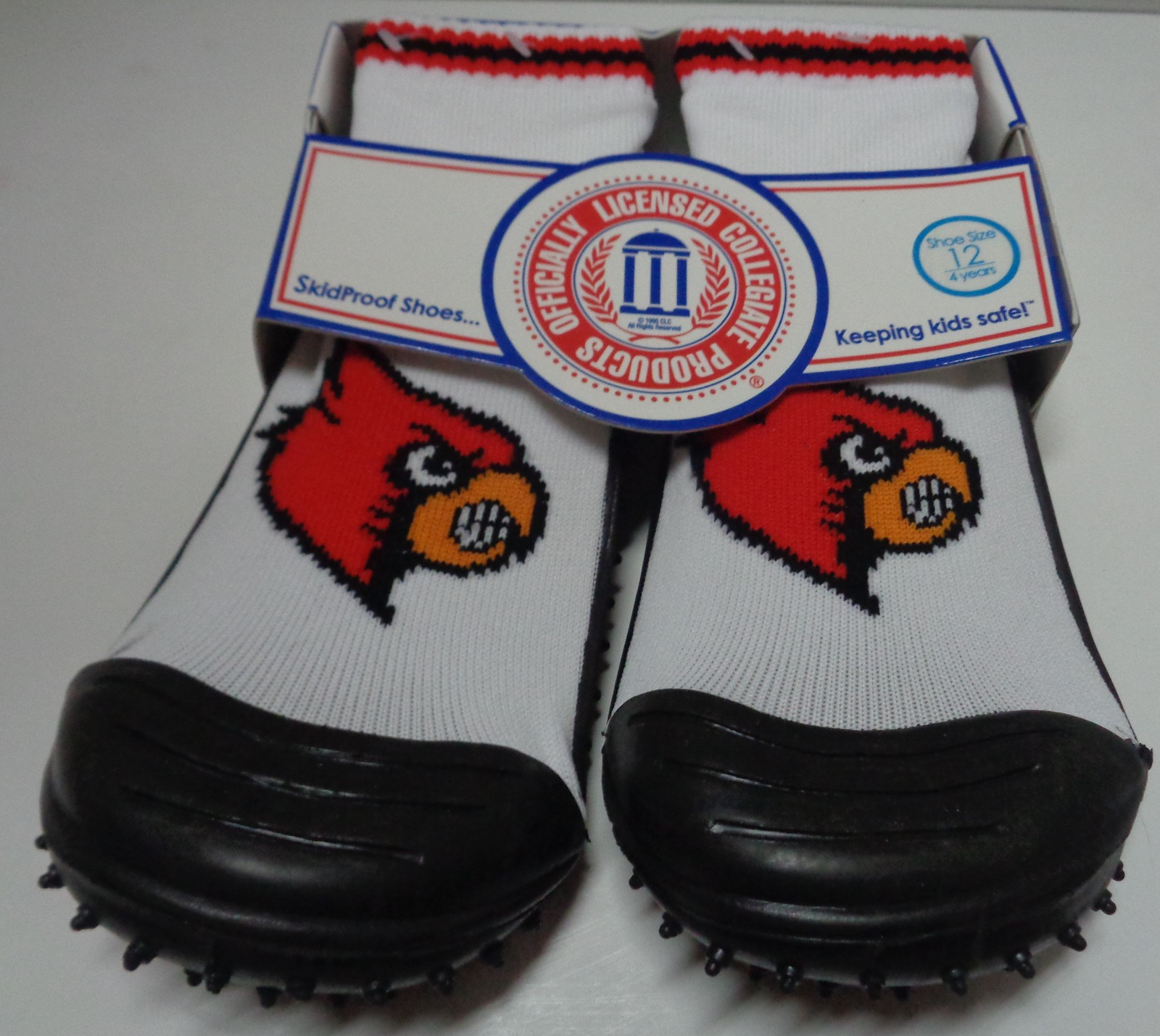 Skidders Toddlers No Skid Shoes Louisville Kentucky Cardinals NWT Sz 12/4 Years