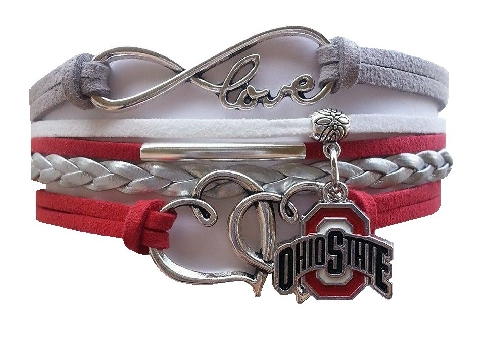 Ohio State Buckeyes Fan Shop Infinity Hearts Bracelet Jewelry