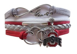 Ohio State Buckeyes Fan Shop Infinity Hearts Bracelet Jewelry - $12.99