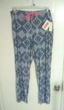 Bobbie Brooks Woman's Blue & White Print Sleep Pants - Cute & Comfy - Si... - $8.70