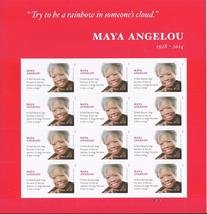 MAYA ANGELOU  2015 S/SHEET - USA MINT FOREVER Stamps, Imperfect Printing - $15.95