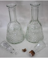 Glass Wine Decanters Vintage - Lot of 2 - $18.95