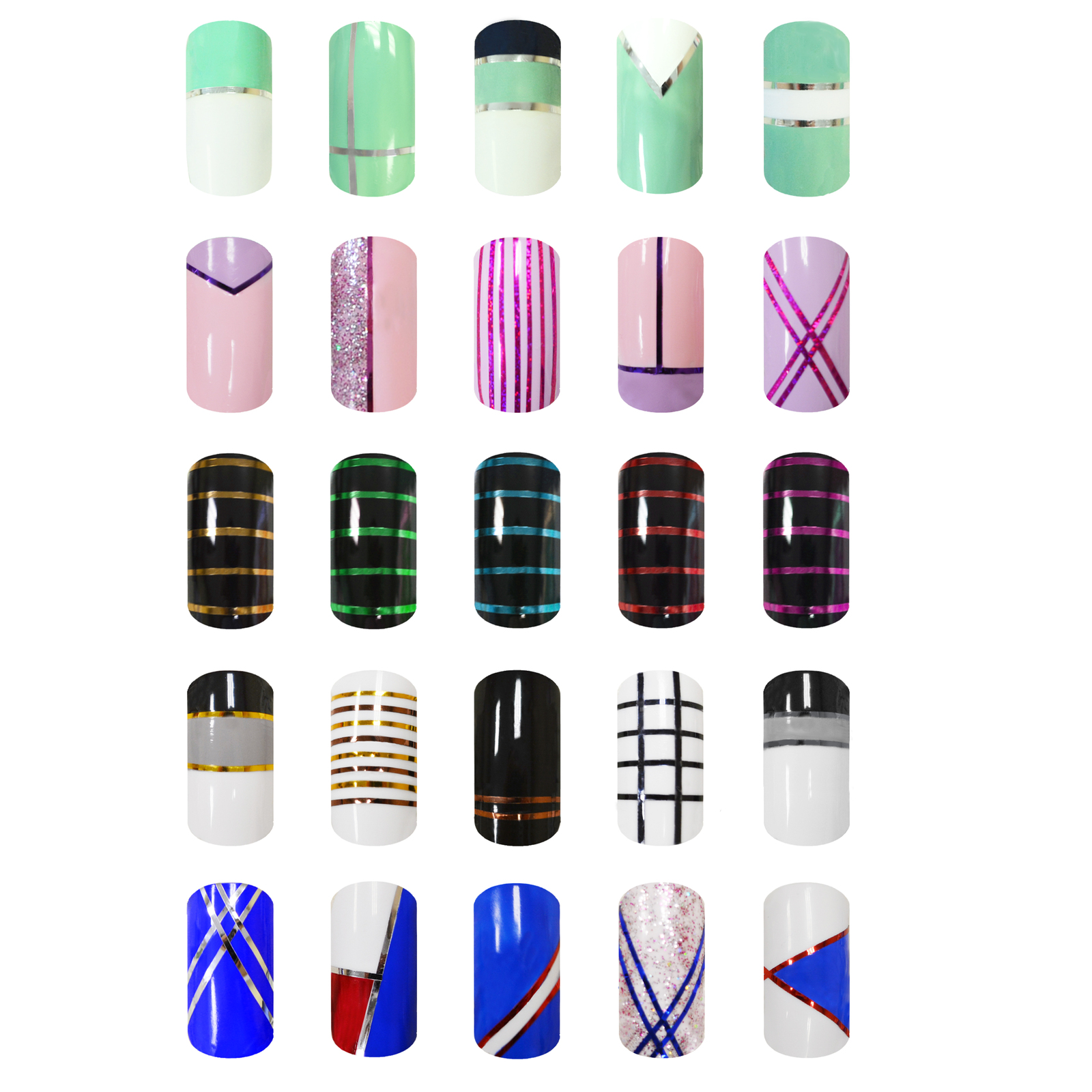 30 Colors Rolls Striping Tapes Line Adhesive Sticker Nail Art Tips Decoration