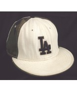 LA Los Angeles Dodgers New Era 5950 Fitted 7 3/8 Baseball Cap Hat White ... - $19.99