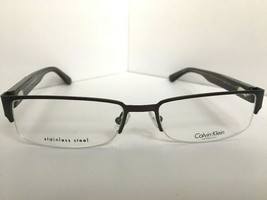 New Calvin Klein CK 7372 015 54mm Semi-Rimless Men's Eyeglasses Frame - $119.99