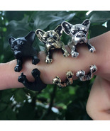 French Bull Dog Wrap Ring (Black, Gold, or Silver Colored) - $6.99