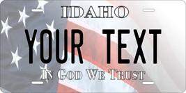 Idaho USA Flag Personalized Custom Novelty Tag Vehicle Car Auto Motorcyc... - $16.75