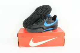 NOS Vintage 80s Nike Genoa Indoor Soccer Cleats Shoes Turf Black Leather... - $49.45