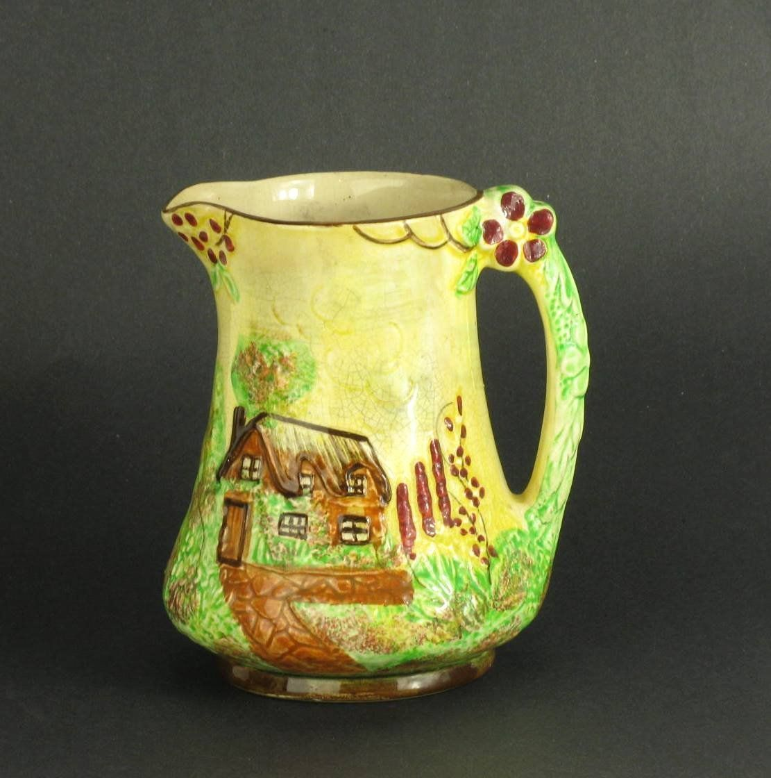 "PRICE BROS. Vintage Cottage Ware 7"" Pitcher"