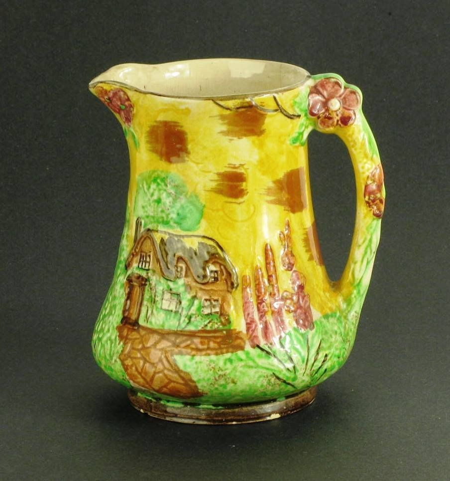 "Price Bros. Vintage Yellow Cottage Ware 7"" Pitcher"