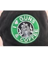 Guns and Coffee black cap hat cotton adjustable back - $19.99