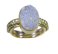 adorable Druzy Gold Plated multi Ring suppiler L-1in US 5,6,7,8 - $6.99